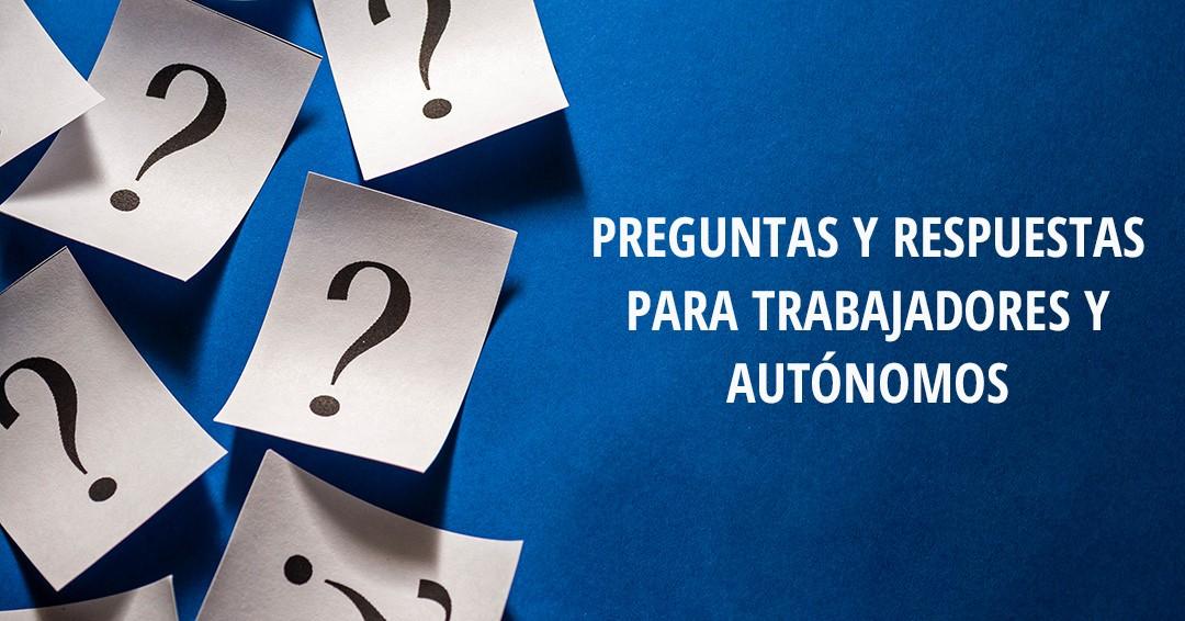 Preguntas y respuestas sobre las nuevas ayudas a autónomos y trabajadores
